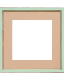 Provence wood picture frame with mat